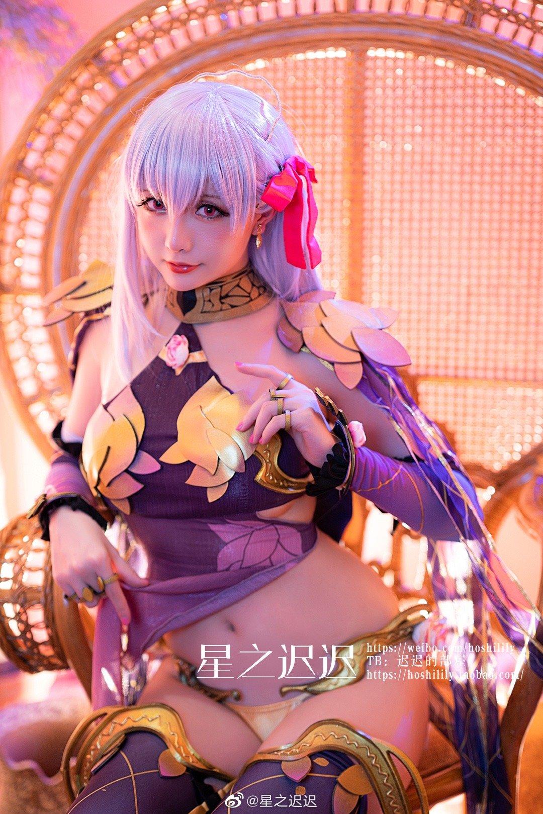 [COS]FGO   伽摩   @星之迟迟 (9P) -性感cosplay图片怎么样插图