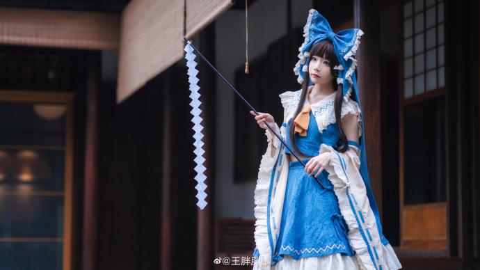 东方project   博丽灵梦   青灵梦   @王胖胖u (9P)-第8张