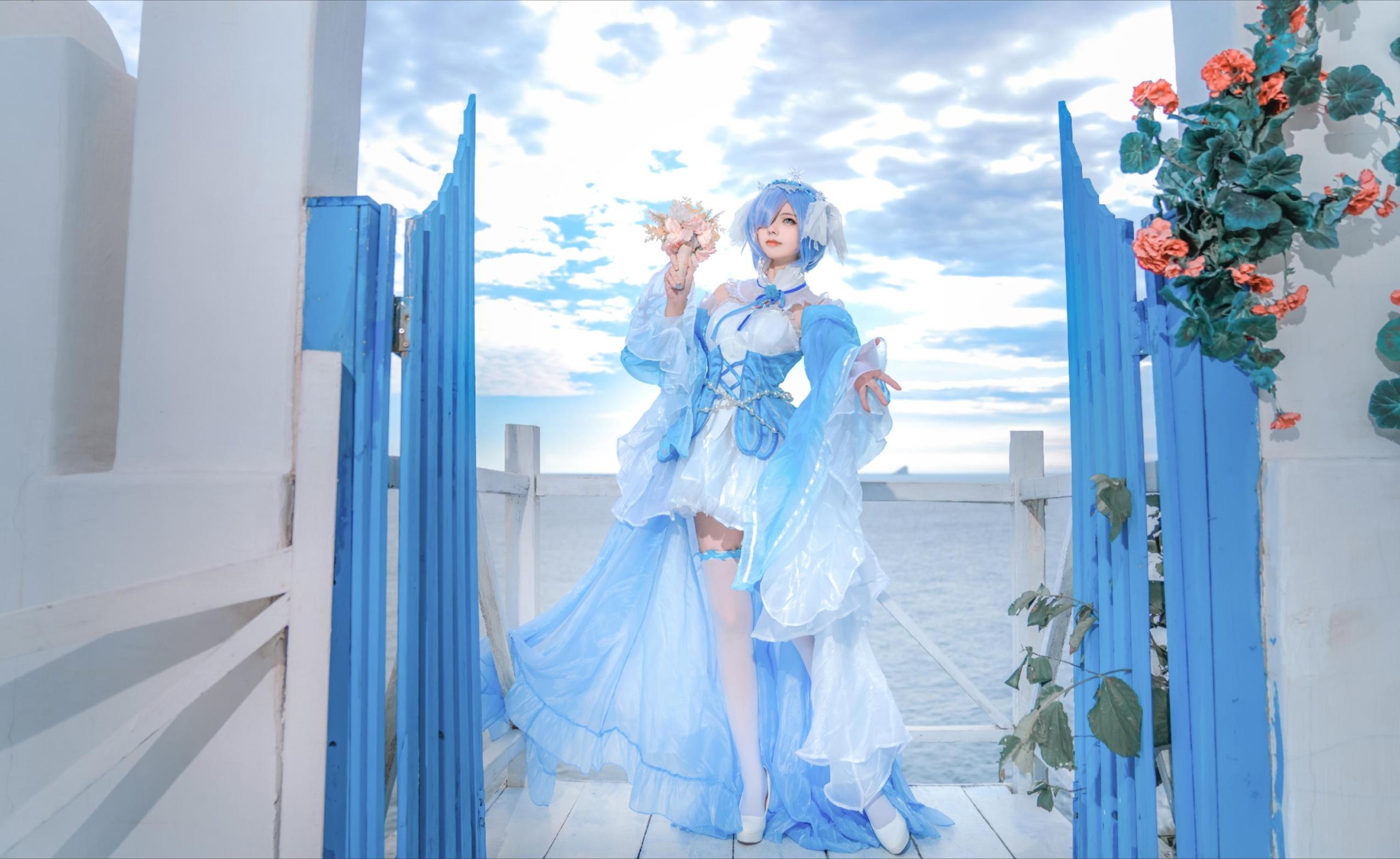 《RE:从零开始的异世界生活》蕾姆cosplay【CN:nino家的橘子】 -二次元cosplay美女图片插图