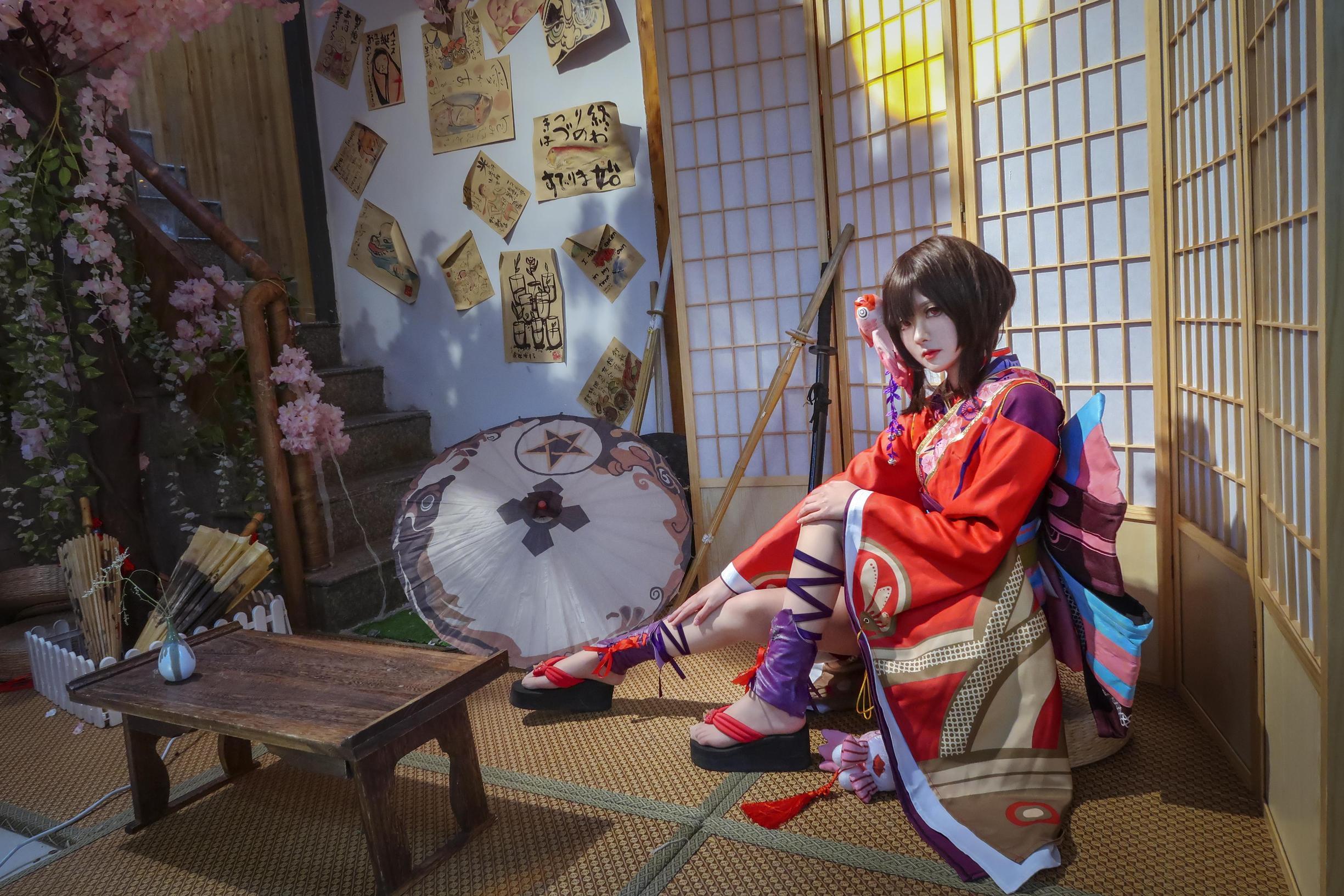 阴阳师神乐cosplay【CN:一乐怕是石乐志】 -动漫cosplay靴子图片下载插图