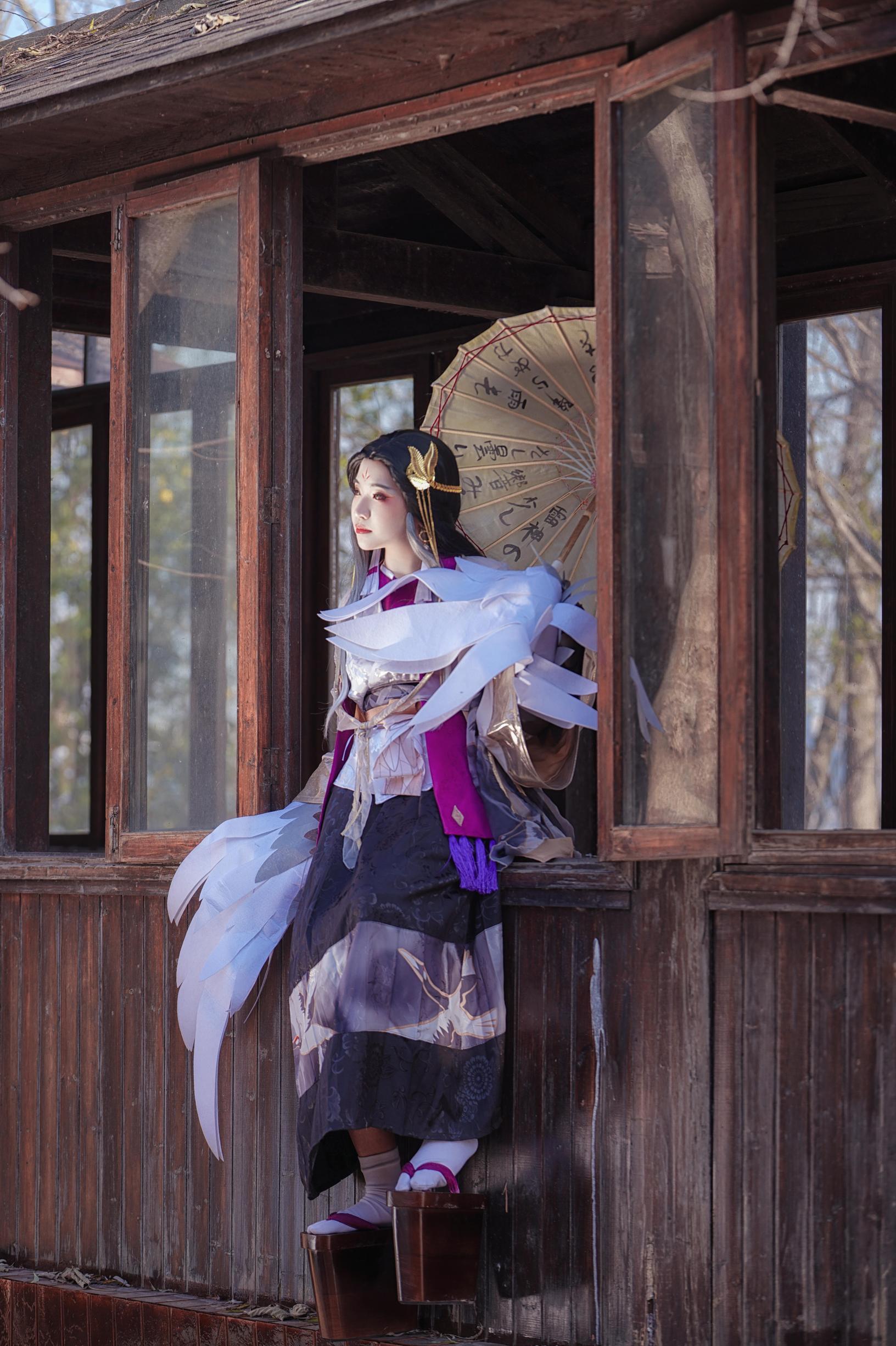 《阴阳师手游》姑获鸟cosplay【CN:允允允允蝶呐】 -cosplay美女人图片插图