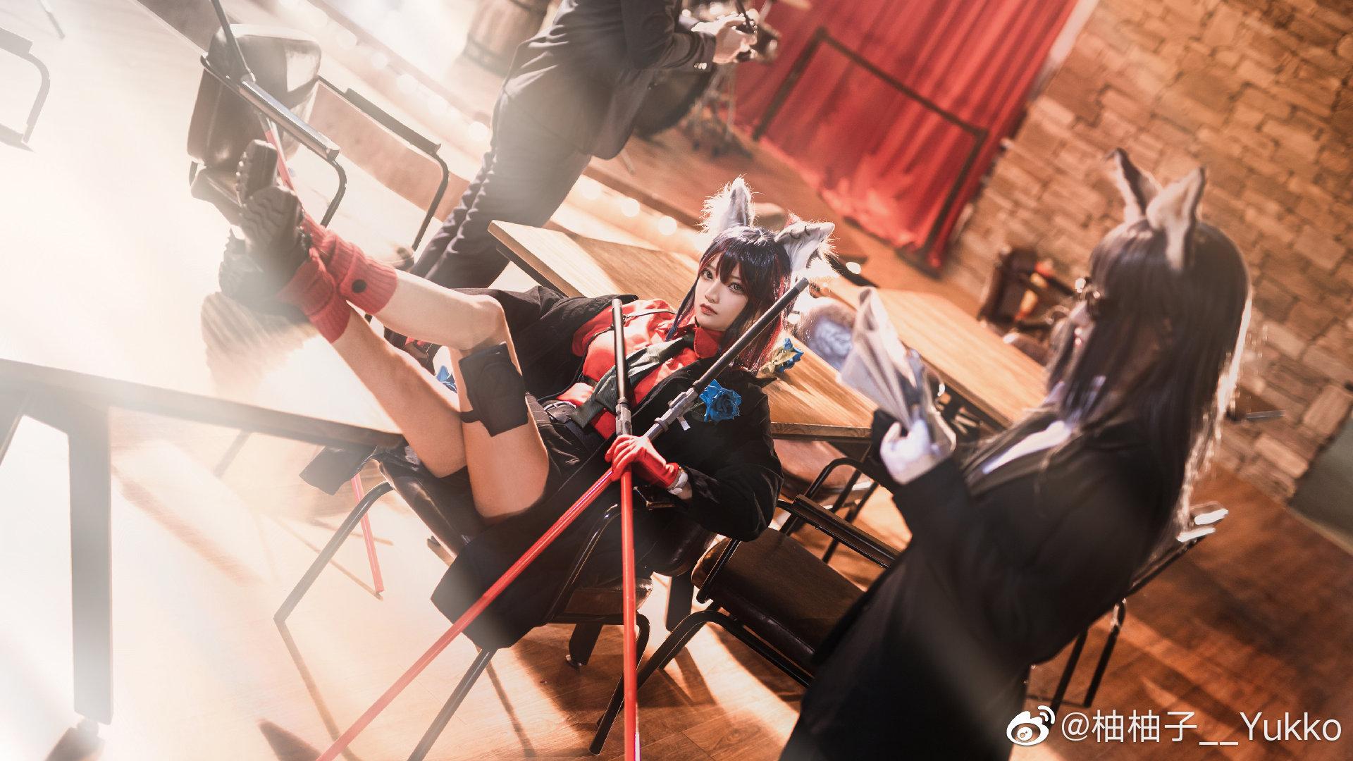 [COS]明日方舟   德克萨斯   @柚柚子__Yukko (9P) -cosplay男生图片超帅插图