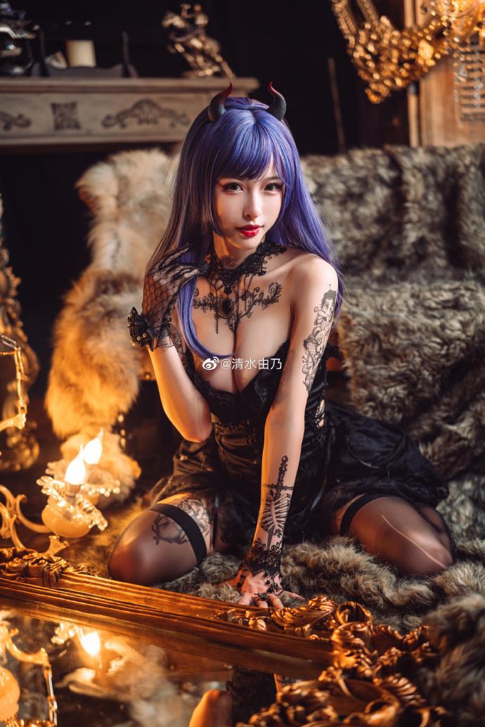 @清水由乃: 当夜幕降临烛火燃起,来自恶魔的邀约,你会如何选择? (9P)-第9张