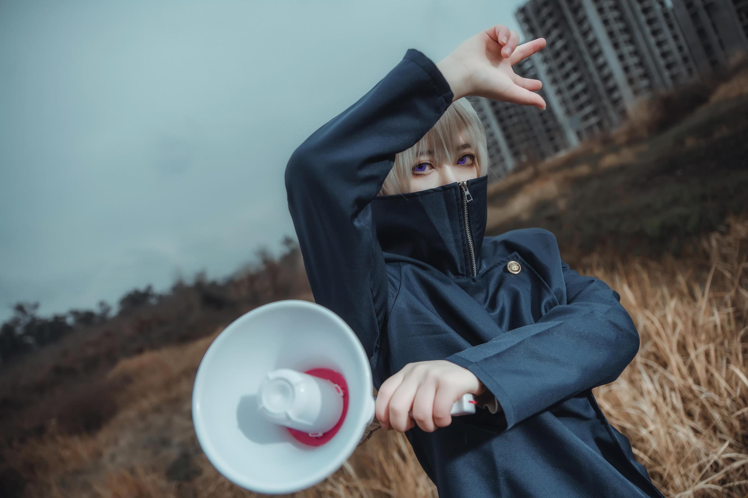 《咒术回战》孤毒饮茶cosplay-第1张