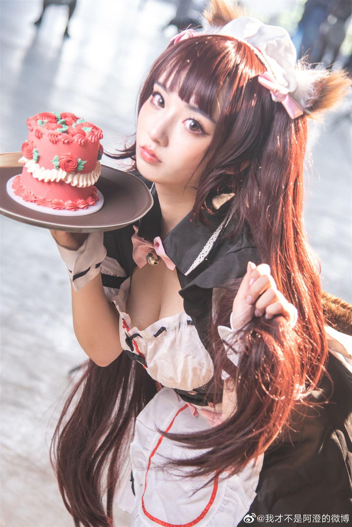 《巧克力与香子兰》巧克力可爱女仆装Cosplay美图【CN:我才不是阿澄的微博】 (9P)-第2张