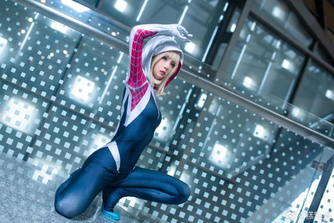 [COS]女蜘蛛人·关(蜘蛛格温)   @糕糕兽 (9P) -空姐cosplay图片下载插图