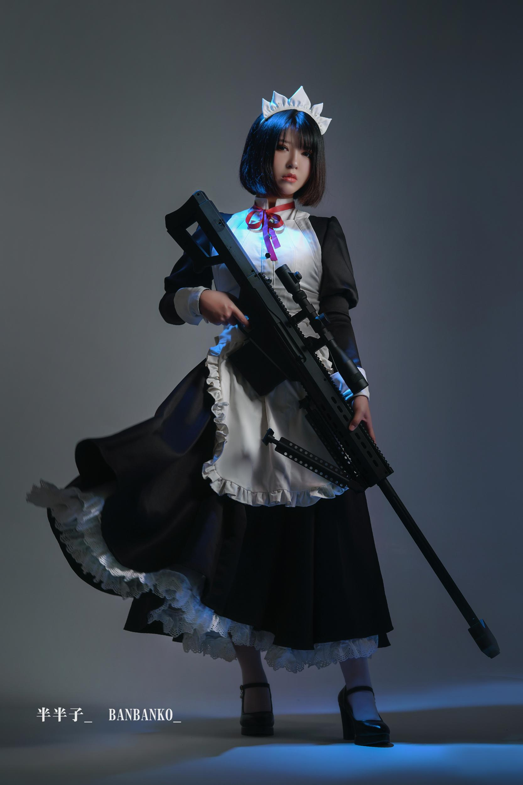 女仆cosplay【CN:半半子】-第9张