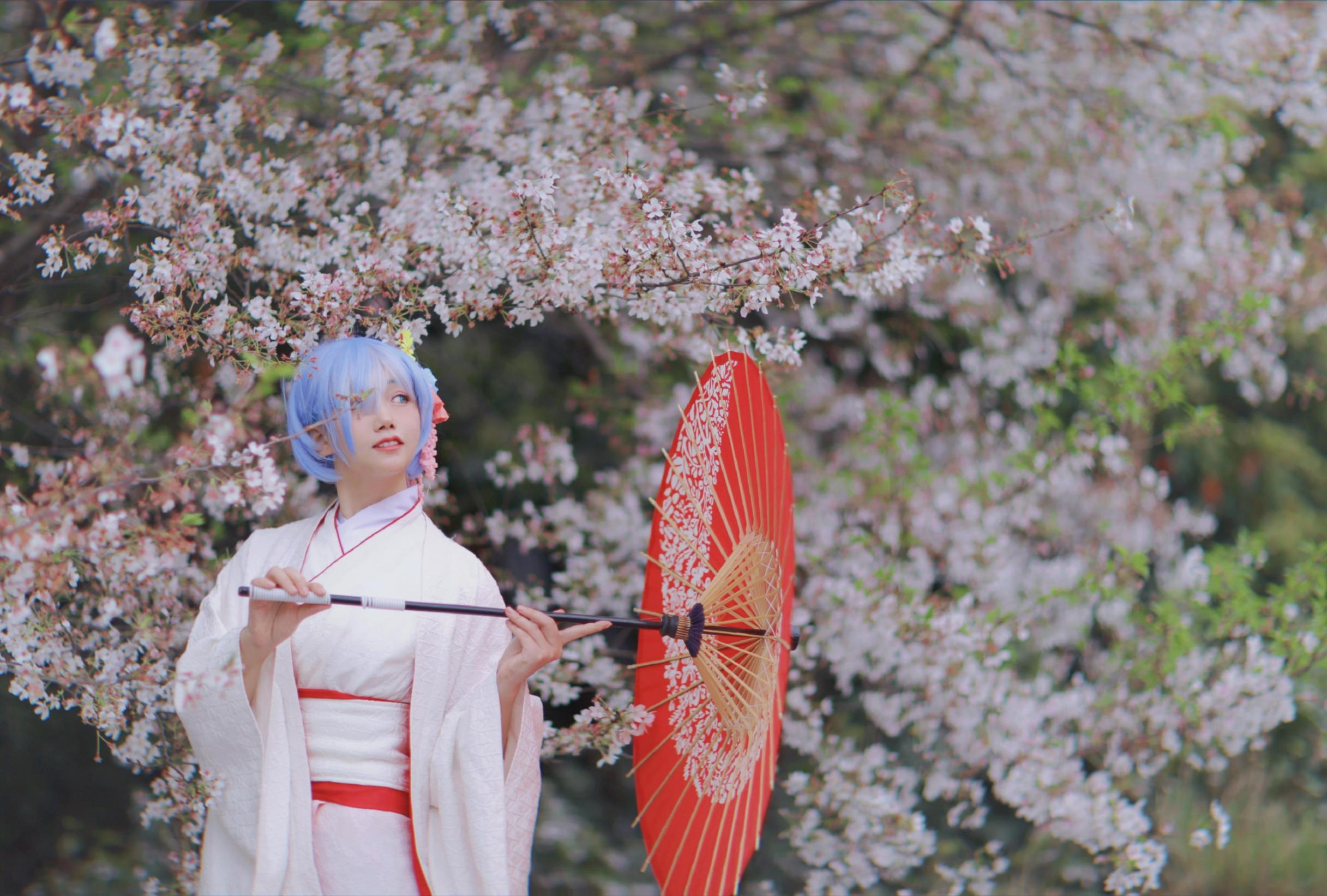《RE:从零开始的异世界生活》蕾姆cosplay【CN:唐暖别吃了w】-第1张