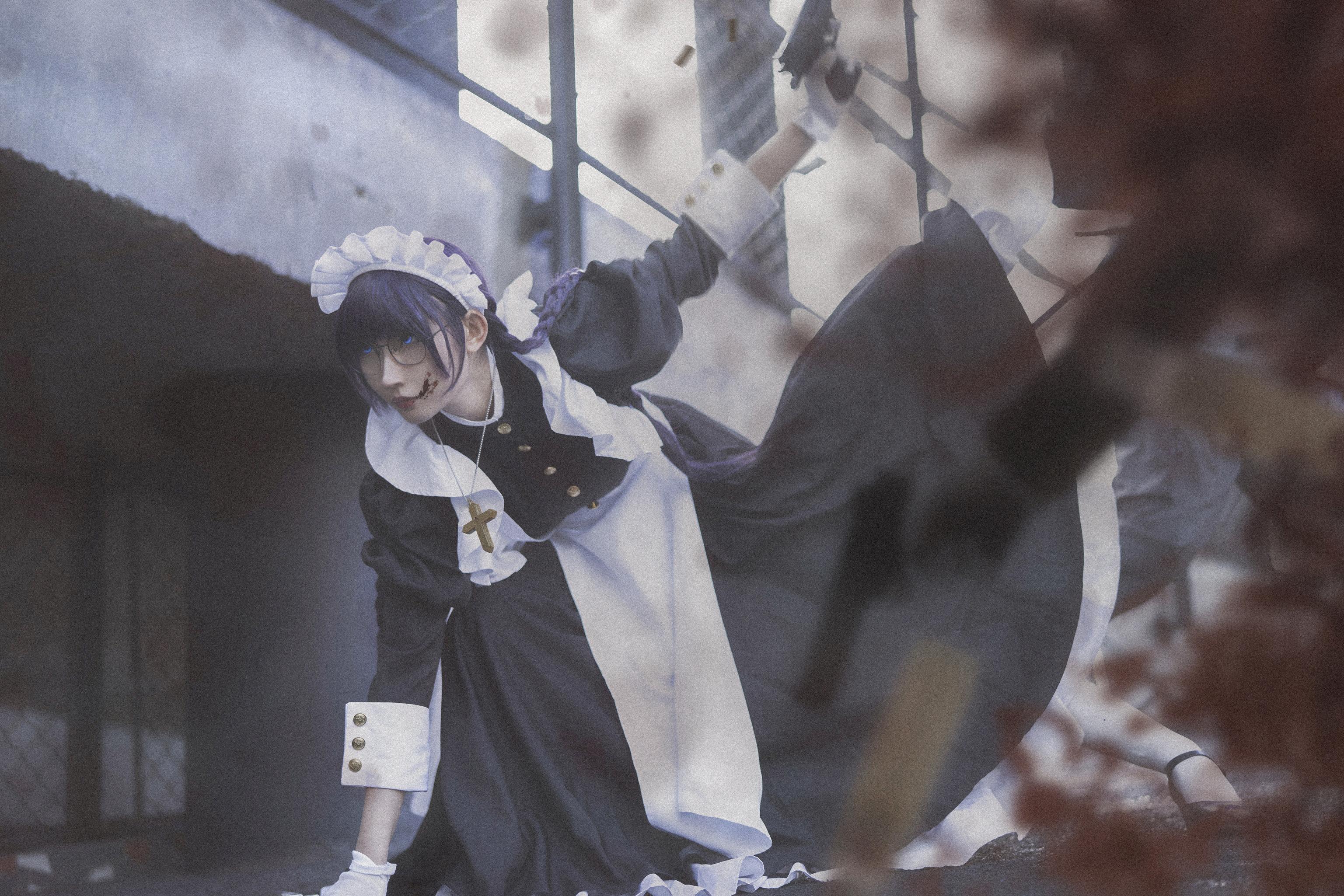 《黑礁》女仆cosplay【CN:纪沫2333】-第2张
