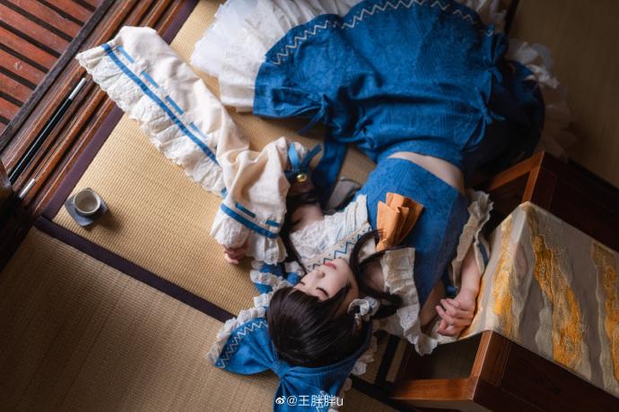 东方project   博丽灵梦   青灵梦   @王胖胖u (9P)-第4张