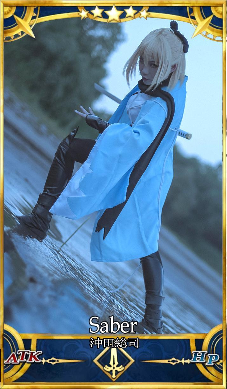 《FATE/GRAND ORDER》冲田总司cosplay【CN:苍之砂】 -cosplay魔鬼恋人图片下载插图