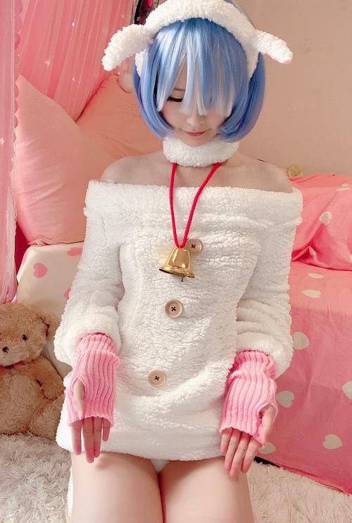 Misa呆呆 『Reゼロ』羊レム コスプレ (9P)-第3张