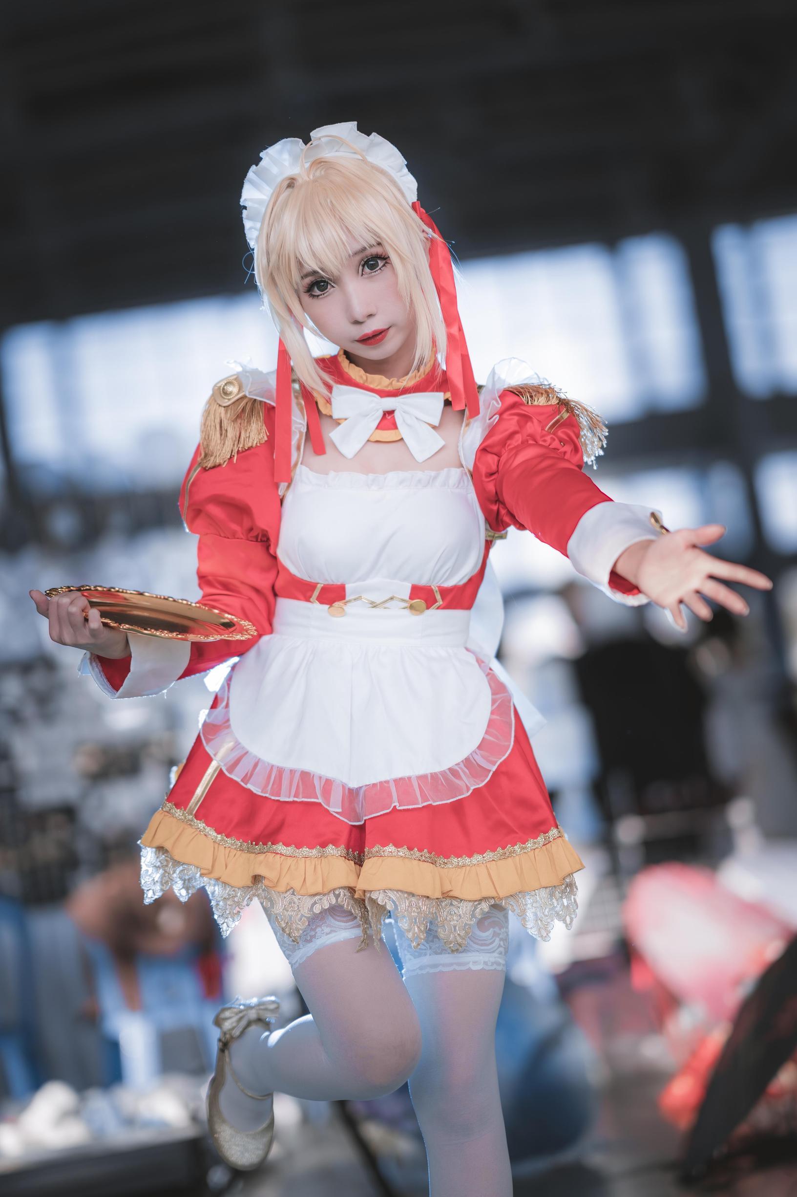 尼禄女仆cosplay【CN:蛋宝也可以叫我阿彪】 -cosplay美女图片 丝袜插图