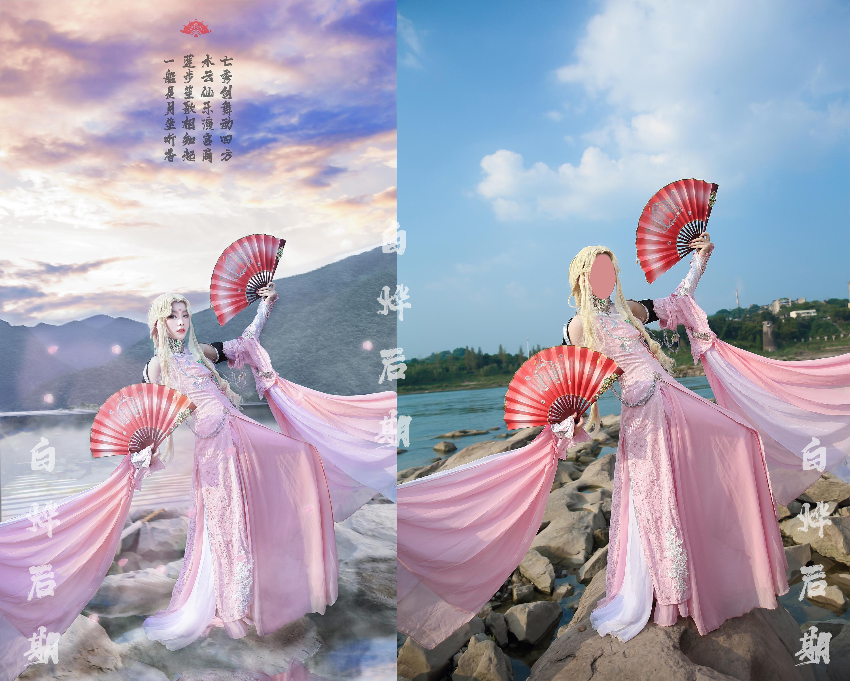 后期接单cosplay【CN:大白白烨】 -玉藻前cosplay人美女图片插图
