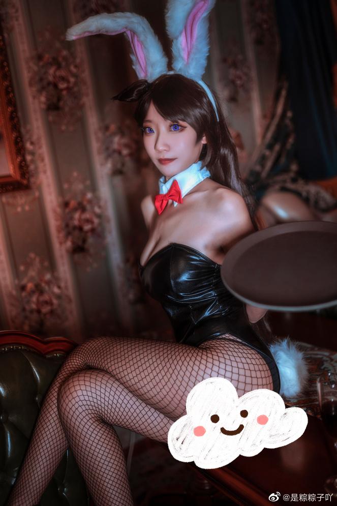 名侦探柯南   毛利兰   兔女郎   @是粽粽子吖 (8P)-第7张