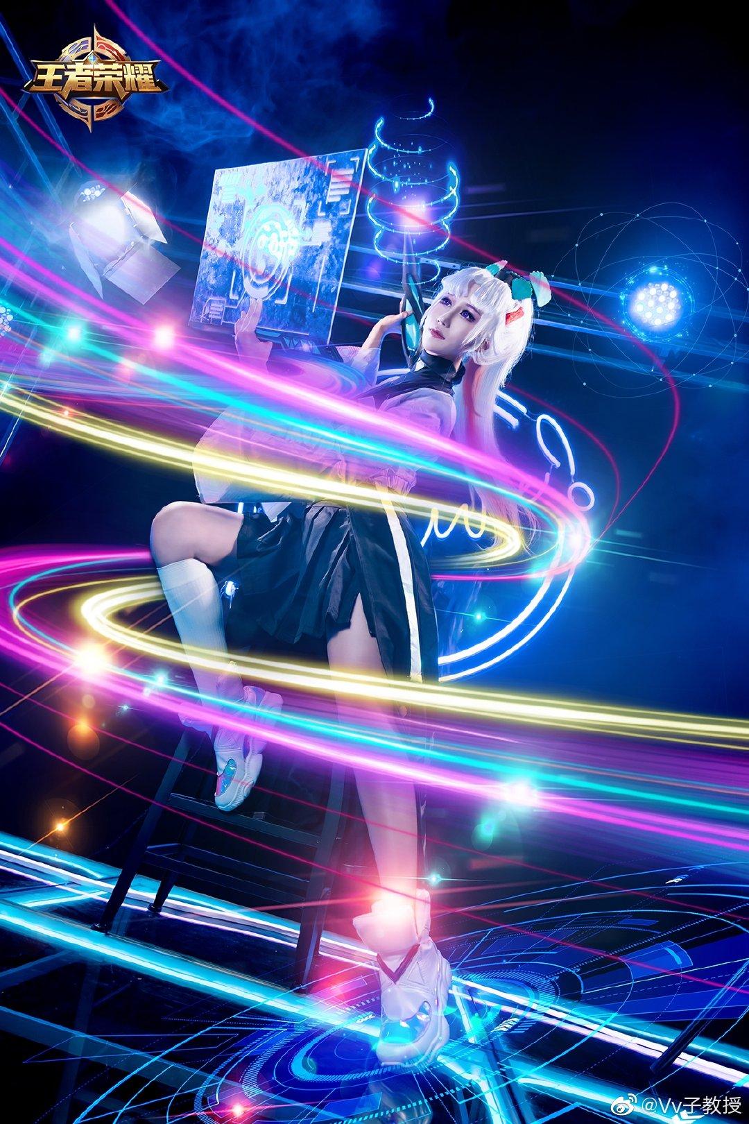 [COS]王者荣耀   上官婉儿   天狼绘梦者   @Vv子教授 (9P) -cosplay古风服装图片下载插图