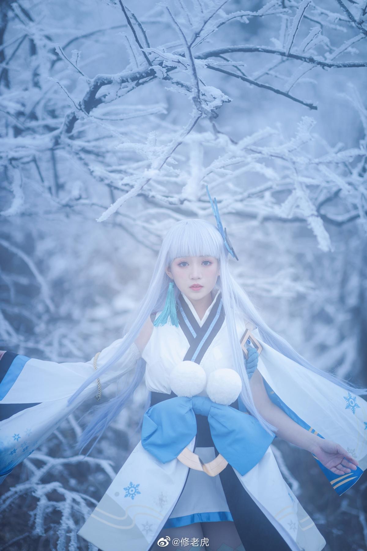 [COS]阴阳师   雪女   @修老虎 (9P) -cosplay六道骸图片插图