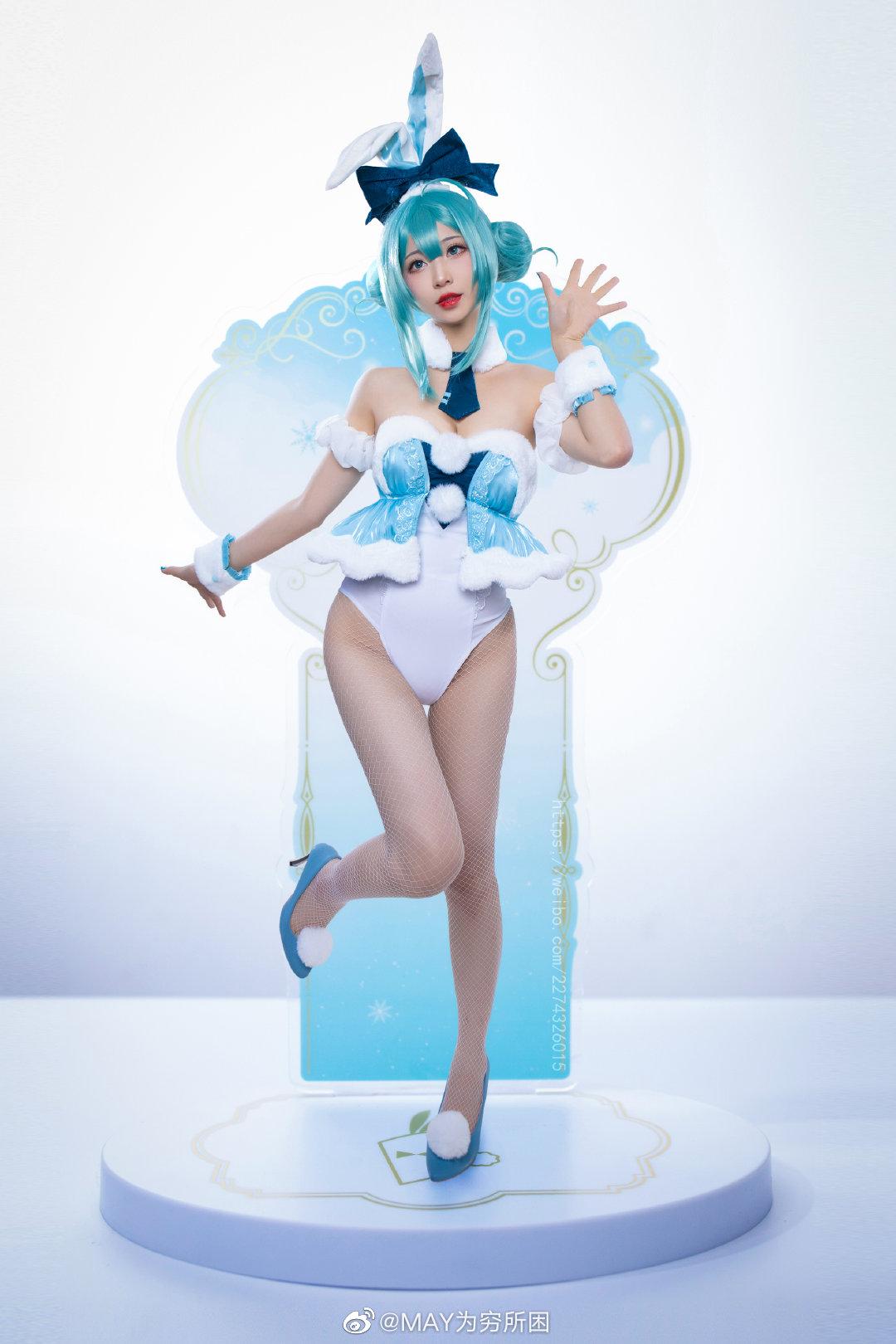[COS]初音未来   兔女郎.Ver 白兔MIKU   @MAY为穷所困 (9P) -cosplay西装价格图片精选插图