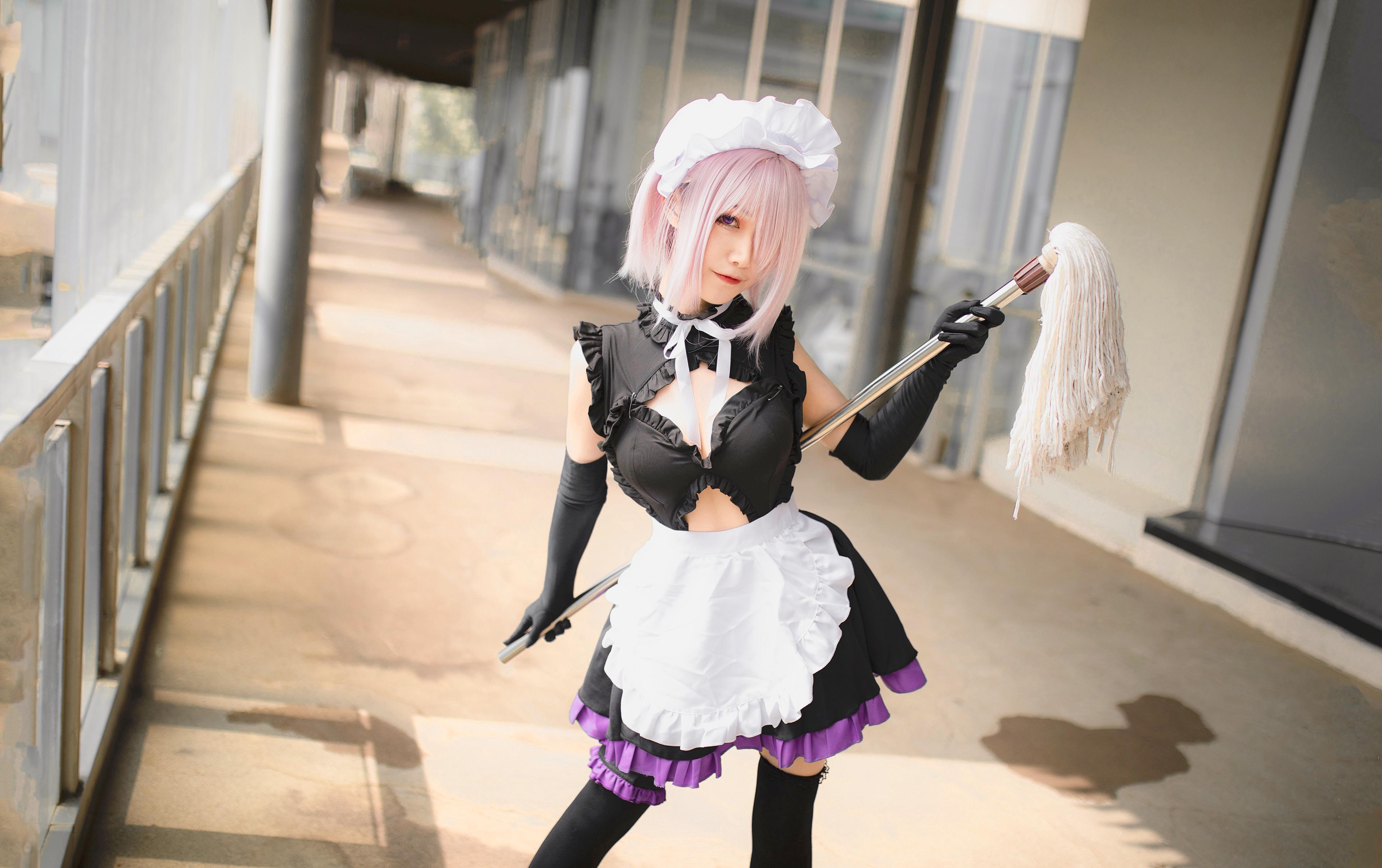 《FATE/GRAND ORDER》女仆cosplay【CN:Coser小一lorD】-第3张