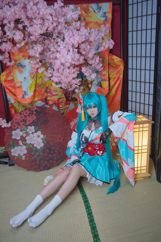 初音未来和服cosplay【CN:酥乣是个屑.】 -好看的搞笑cosplay图片插图