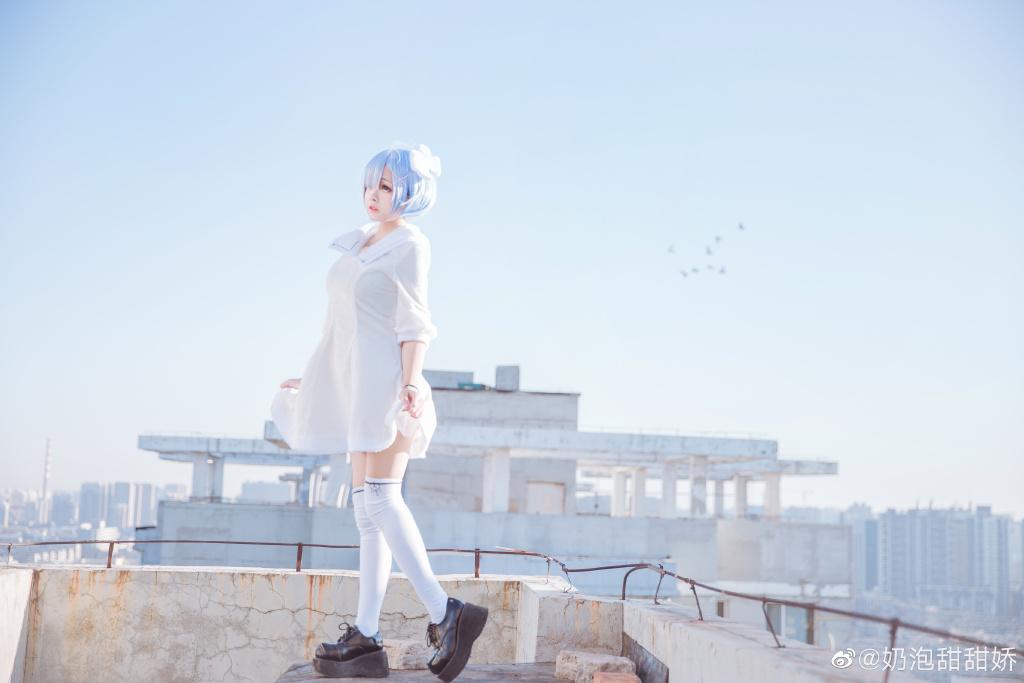 Re:从零开始的异世界生活 蕾姆cos @奶泡甜甜娇 (9P)-第2张