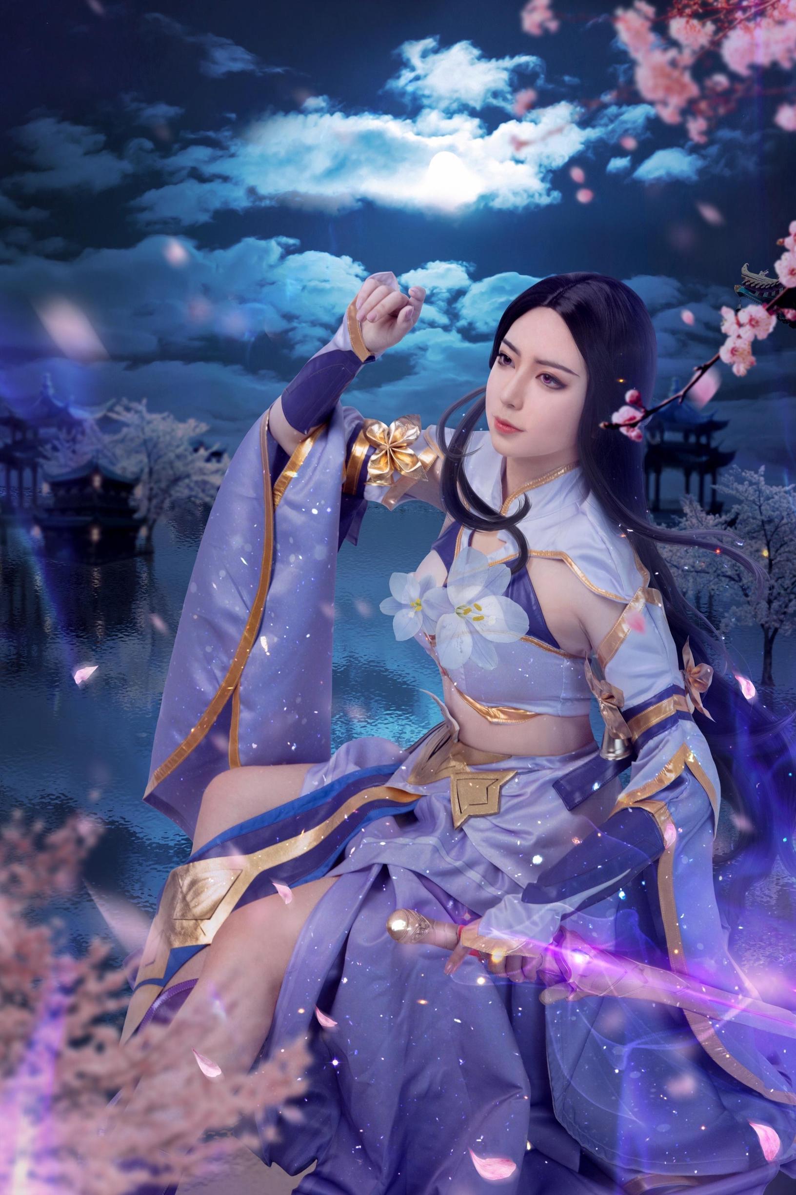 《王者荣耀》露娜紫霞仙子cosplay【CN:-幕秋秋-】-第4张