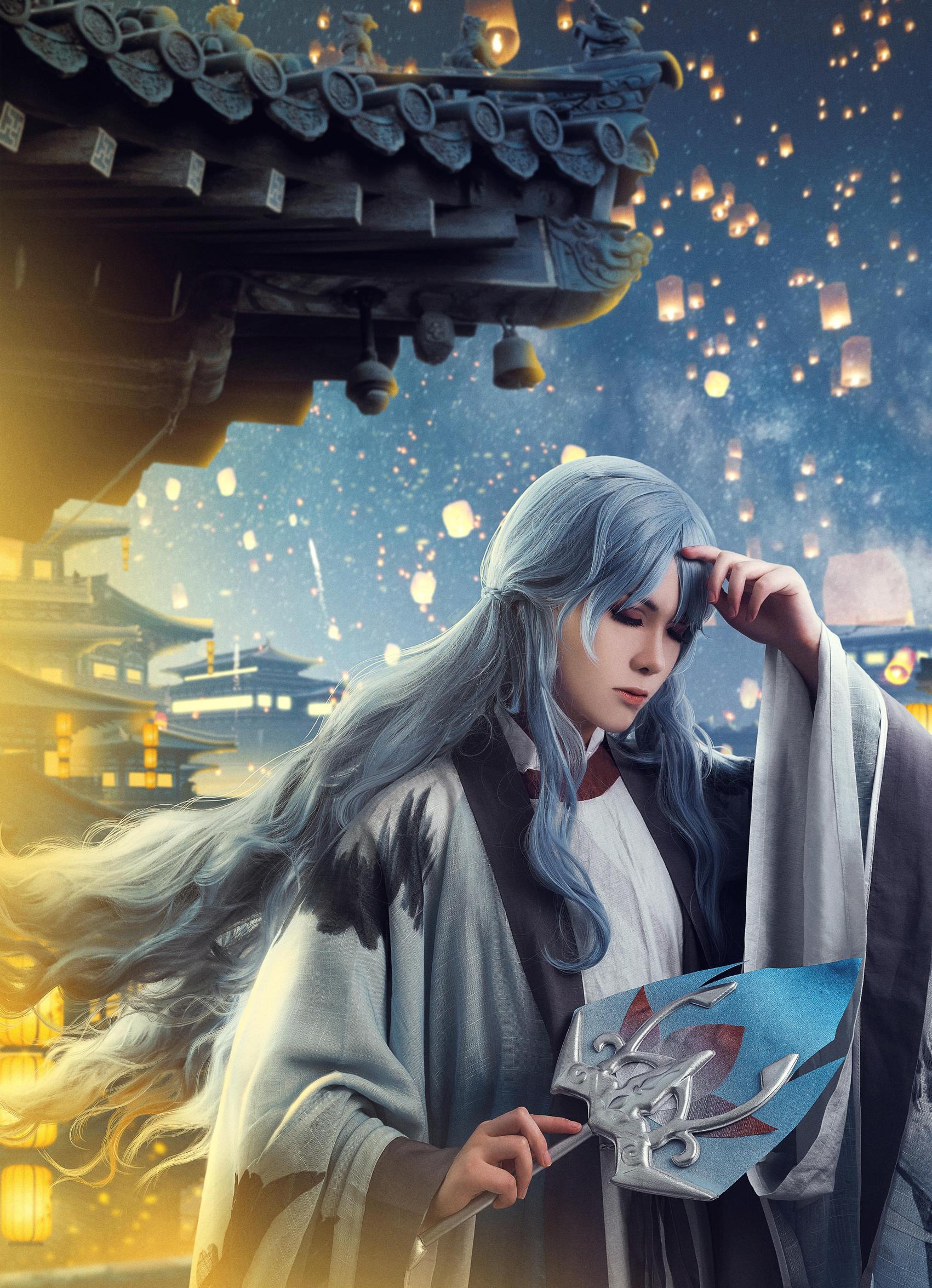 《王者荣耀》诸葛亮cosplay【CN:时雨润桃花LY】 -安琪拉图片cosplay插图