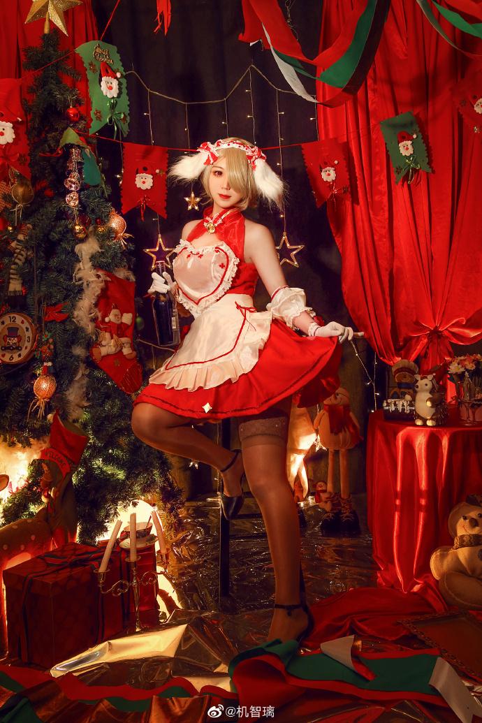 崩坏3   丽塔·洛丝薇瑟  圣诞女仆   @机智璃 (9P)-第1张