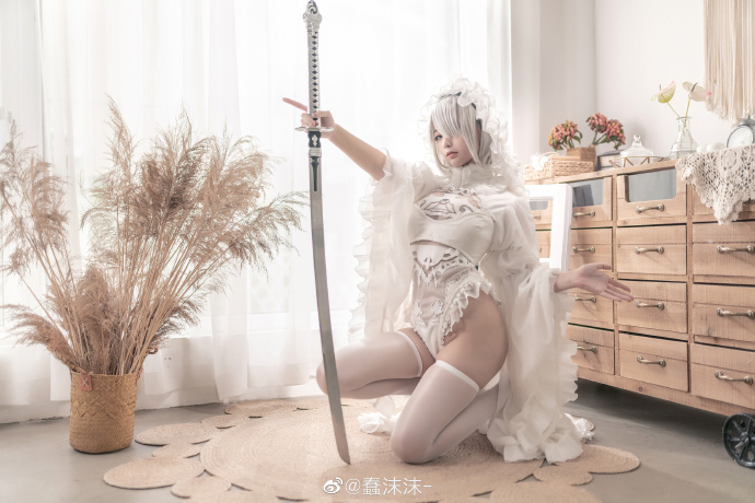 尼尔:自动人形  2B   黑白花嫁同人   @蠢沫沫- (9P)-第4张