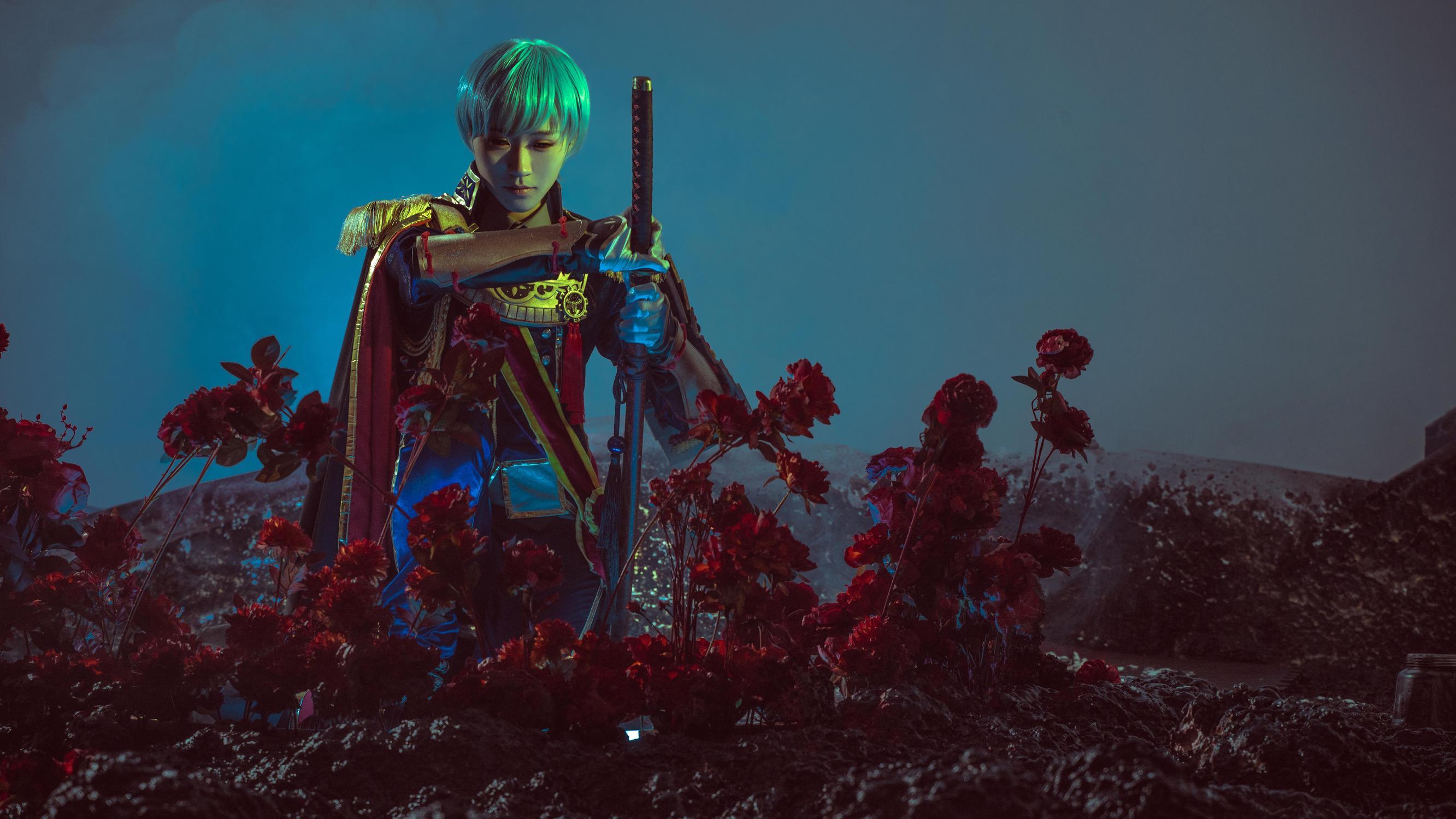 《刀剑乱舞》正片cosplay【CN:绯茶】 -二次元cosplay写真图片插图