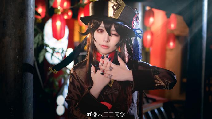 [COS]原神   胡桃   @六二二同学 (9P) -cosplay胸大图片插图