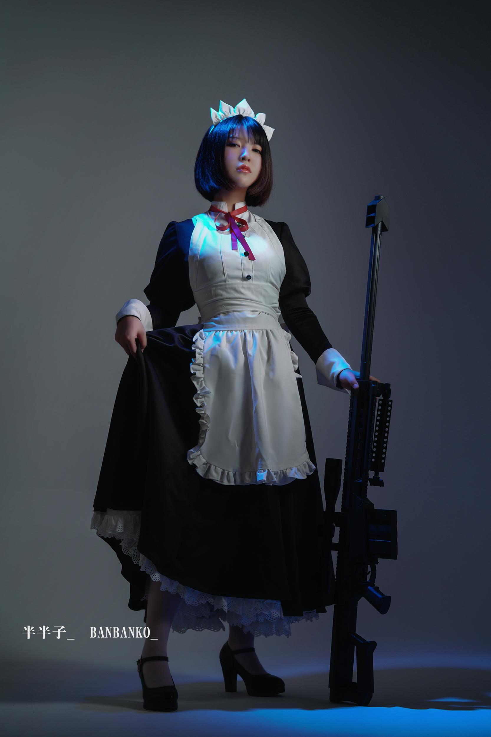 女仆cosplay【CN:半半子】-第1张