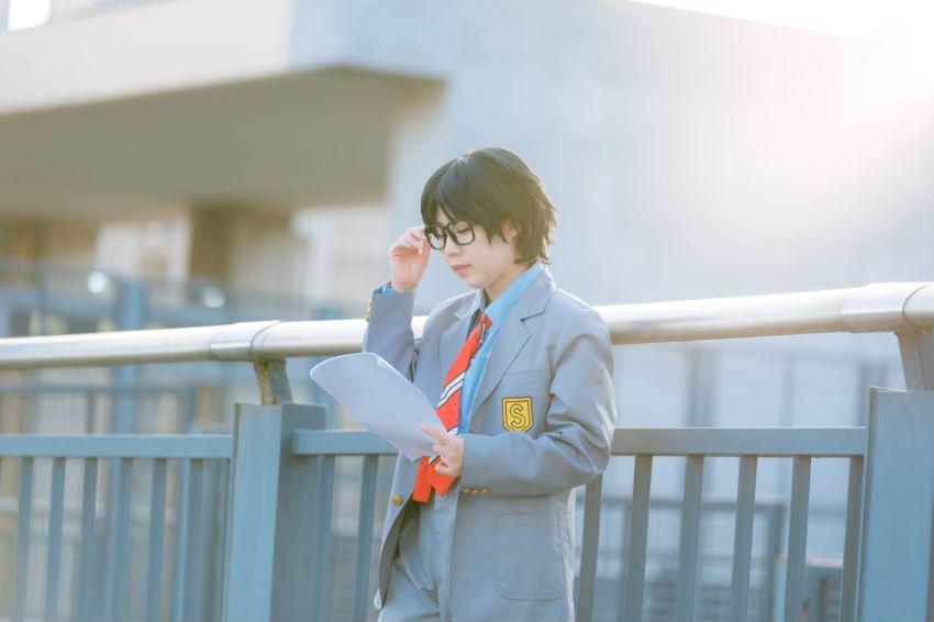 《四月是你的谎言》仿妆cosplay【CN:忽悠_努力修炼ING】-第4张