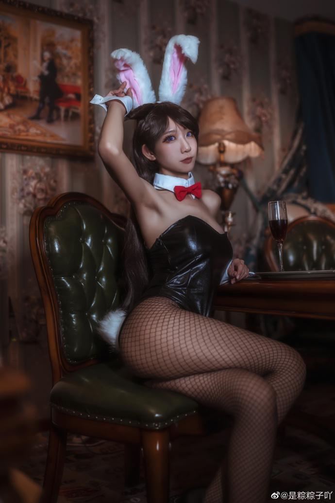 名侦探柯南   毛利兰   兔女郎   @是粽粽子吖 (8P)-第1张