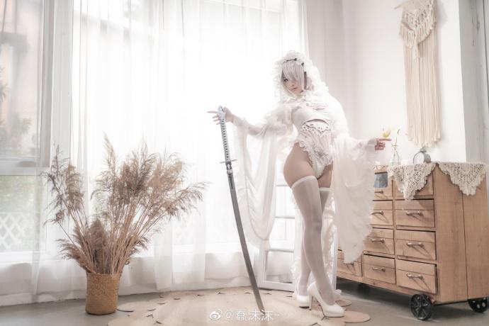 尼尔:自动人形  2B   黑白花嫁同人   @蠢沫沫- (9P)-第1张