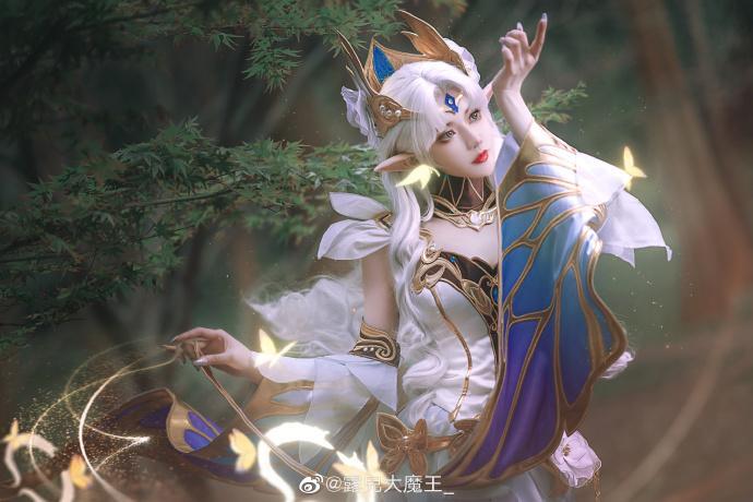 [COS]王者荣耀   貂蝉   仲夏夜之梦   @露儿大魔王_ (9P) -cosplay古装白衣图片插图