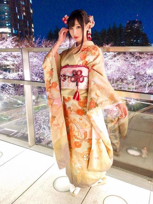 [COS]Hane-cosplay日系海报图片Ame 雨波   FGO ナイチンゲール+艶やかな着物姿と六本本の桜 (9P) –插图