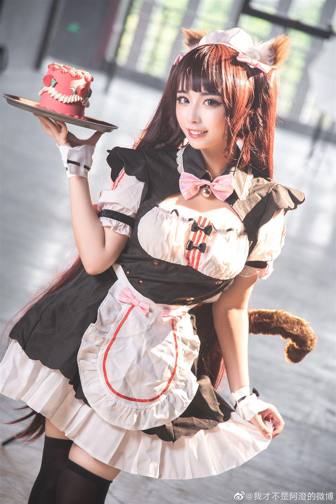 《巧克力与香子兰》巧克力可爱女仆装Cosplay美图【CN:我才不是阿澄的微博】 (9P)-第3张